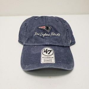 Patriots Distressed Blue Adjustable Women's Hat